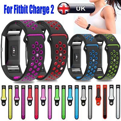Replacement Watch Sport Strap Wristband Bracelets for Fitbit Charge 2 Silicone