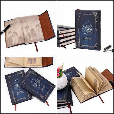 For Harry Potter Blue Vintage Diary Planner Journal Book Agenda Notebook Notepad