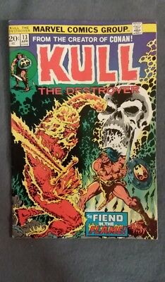 Marvel Comics Kull the Conqueror #13 (1973) FN-VF See photos Free Bag/Board