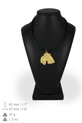Lakeland Terrier - gold plated necklace with image of a purebred dog, ArtDog USA