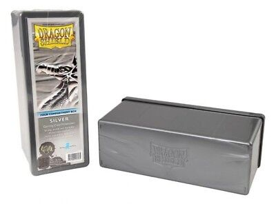 Dragon Shield - 4 Compartment Storage Box Silver - Karten Box
