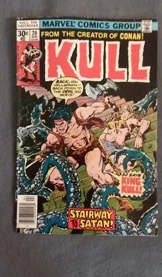 Marvel Comics Kull the Conqueror #20 (1973) VG-FN See photos Free Bag/Board