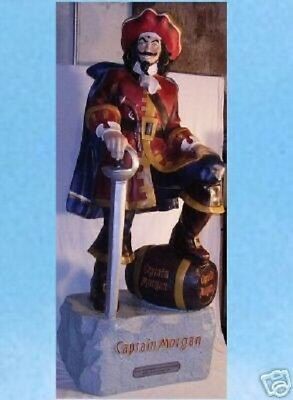 Rare Captain Morgan Rum 4' Pirate Statue Display Collectable Hard To Find NEW