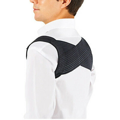 Black Men Shoulder Bandage Upper Back Support Belt Brace Posture Corrector Candy