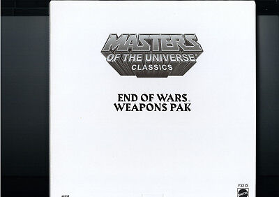 Masters of the Universe Classics End of Wars Weapons Pak Y3213 (2013) MOTU
