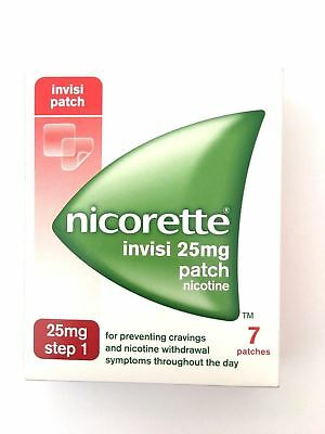 Nicorette Invisi Step 1 25mg Patch Nicotine  - 7 Patches