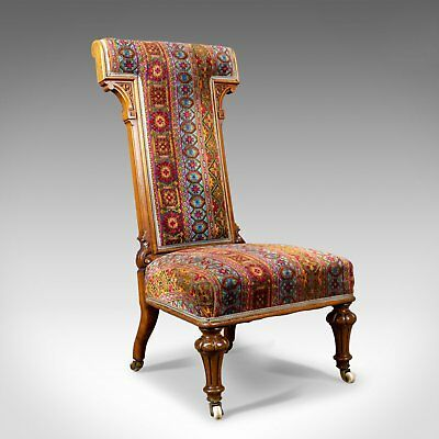 Antique Prie Dieu Chair, 19th Century, Regency, Walnut, Bedroom, Side Circa 1820