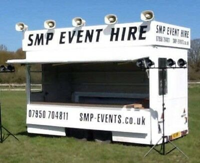 Box Trailer, Catering, Burger, Commentary Unit