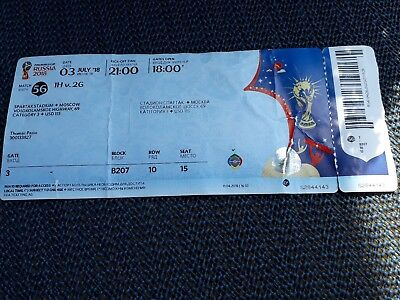 Used , Sammler Ticket WC / WM 2018 Match 56 England  - Colombia