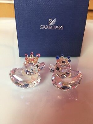 Swarovski Crystal Royal Wedding Happy Ducks Prince and Princess