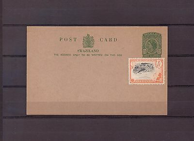 Swaziland - Postal History - Queen Elizabeth Issue - Uprated to 2d - Unused