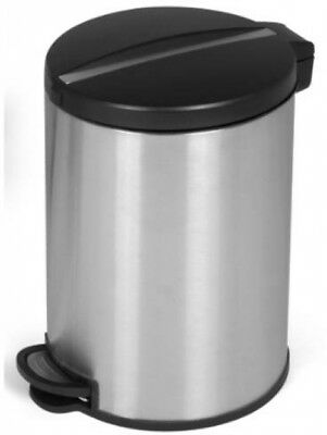 JoyWare 5 Liter / 1.32 Gallon Round Shaped Stainless Steel Step-On Trash Can