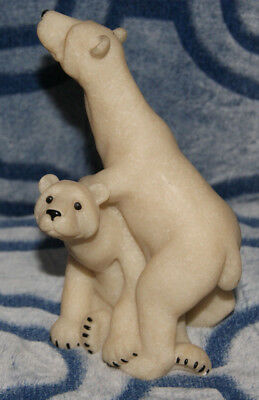 Quarry Critters Peter & Polly Polar Bears, Second Nature Design 2000