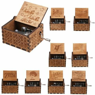 Harry Potter Game of Thrones incisa regalo giocattolo Pop Music Box di legno