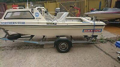 Seahog Fishing Boat 15 ft with trailer no reserve sold as seen