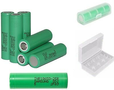 Genuine Samsung INR 18650  2500mAh 25R 35A Vape Rechargeable Battery Free CASE