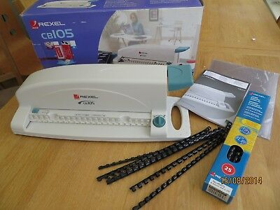Rexel Portable Comb Binder CB105 Boxed and hardly used.