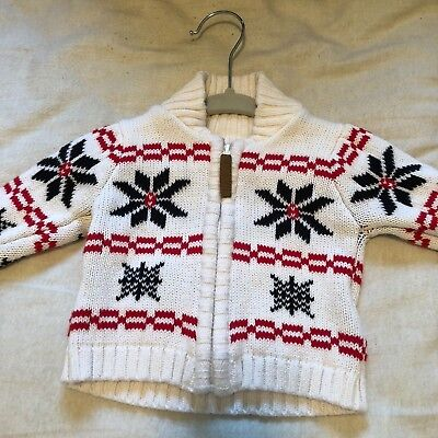 Infant 3 Month Boy Zip Front Cable Sweater