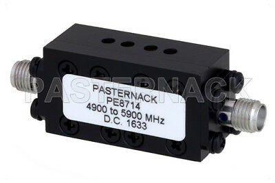 Pasternack PE8714 Bandpass Filter, SMA Female Connectors, 4.9 GHz to 5.9 GHz
