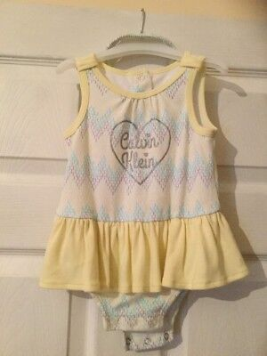 CALVIN kLEIN Baby Girl 18months Body Suit And Head Band