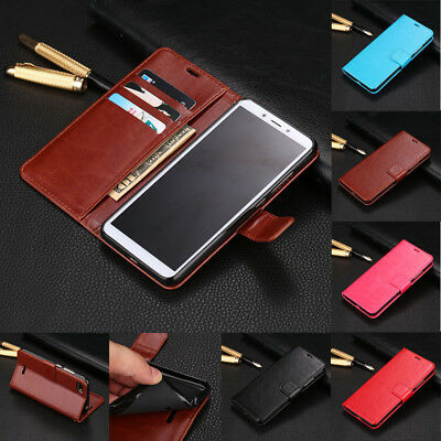For Xiaomi Redmi 6 6A Shockproof Magnetic Flip Card Wallet Leather Case Cover