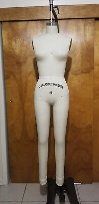 Size 6 Full body dress form with collapsible shoulders