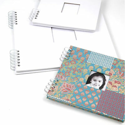 Photo Album Scrapbook Spiral Bound Craft Personalise Drawing Book 20 Card Sheets