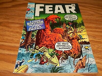 """KEY HG EARLY Bronze Age Horror Comic FEAR # 1 """"The Dweller In The Swamp"""" VF Cd."""
