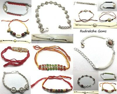Rakhi Indian Wrist Band Festival Rakhadi Rakhari Pearl Fancy Raksha Bandhan Band