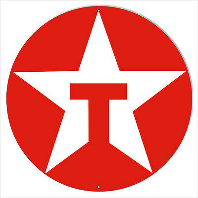 Large Red Texaco Motor Oil Sign 18 Round