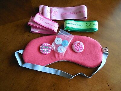 VTG VICTORIA'S SECRET LOT Sleep Mask Pins Buttons Ribbons
