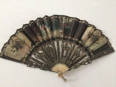 An Early 18Th Century Spanish Hand Fan - Reduced