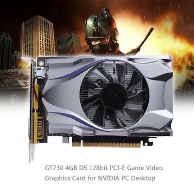 GT730 4GB D5 128bit PCI-E 2.0 Game Video Graphics Card for NVIDIA PC Desktop NEW