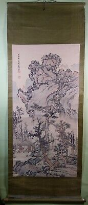 Asian scroll on paper 19th/20th c. unidentified
