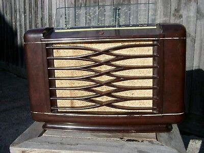 Vintage 1948 Philips Valve Tube Radio Model 115 -not working-