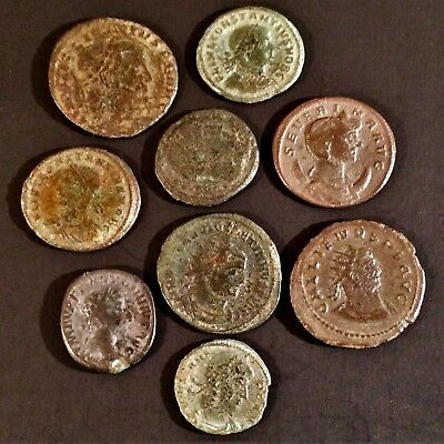 Lot 9 Ancient Roman Coins > TOP QUALITY HIGH-GRADE RARE COINS < Bronze Artifacts