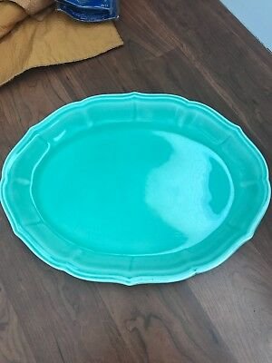 Vintage W.S. George Petite Point Platter. Seafoam green.