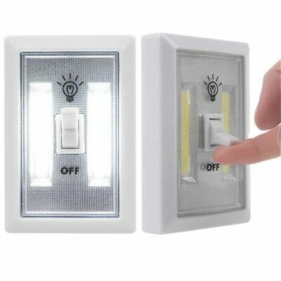 Home Wall Switch LED COB Night Light Battery Operated Closet White Color Lamp