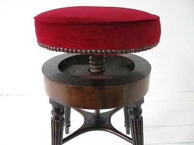Splendid Georgian Regency Piano Stool - Antique, Original, 18th century