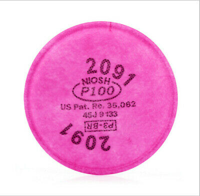 8 pcs=4 packs 3M 2091 particulate filter P100 for 6000, 7000 series respirator