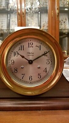 Chelsea 7.5 Inch Ship Strike Solid Brass Clock.