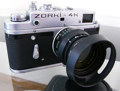 Zorki 4K 35Mm Camera With Pulman Case< Also Extras