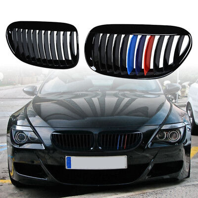 M Color Car Grille For 04-10 BMW E63 E64 6-Series Kidney Front Grill Upgrade