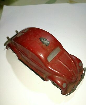 Gama Made Us Zone Germany Lithographed Auto Old Volkswagen Fire Fighters  Model