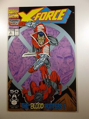 X-Force #2 2nd Appearance Deadpool! Sharp VF Condition!!