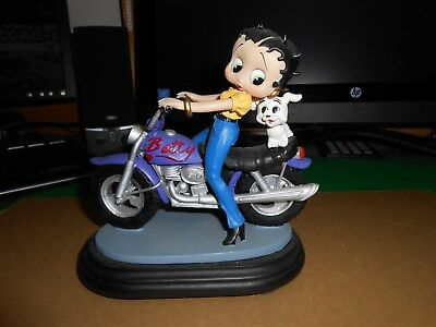 Betty Boop Figurine On A Motorcycle