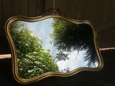 Large Gold Overmantle Mirror