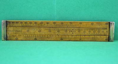 19 c Alcohol Proof Boxwood slide rule J Long Maker 20 Little Tower St London