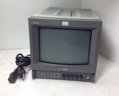 Vintage Sony PVM-9L2 Trinitron Color Video CRT Monitor W/ Cord TESTED WORKING