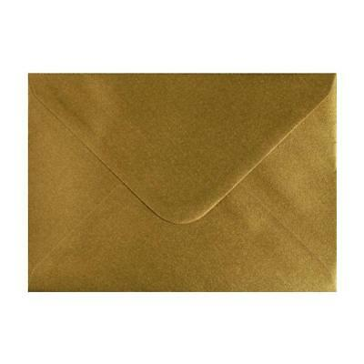 100x C5 Metallic Gold Greeting Card Envelopes Wedding Invitation Craft 162x229mm
